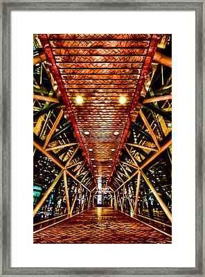 Boston Nightscape Framed Print by Andrew Kubica