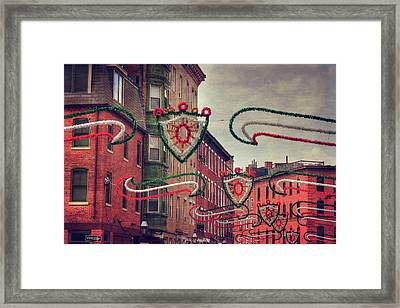 Boston North End - Italian Festival  Framed Print