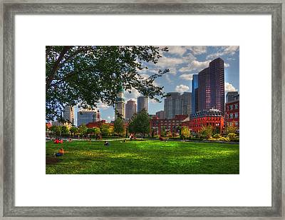Boston North End Parks - Rose Kennedy Greenway Framed Print