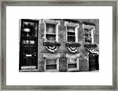 Boston North End Patriotic Sidewalk Framed Print