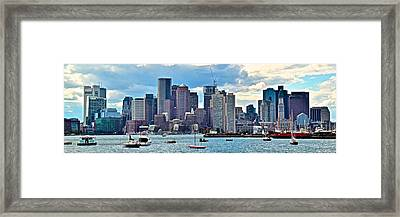 Boston Panorama Framed Print by Frozen in Time Fine Art Photography