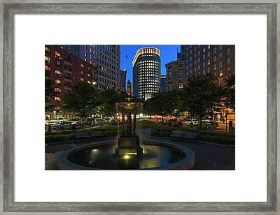 Framed Print featuring the photograph Boston Park Plaza Hotel by Juergen Roth