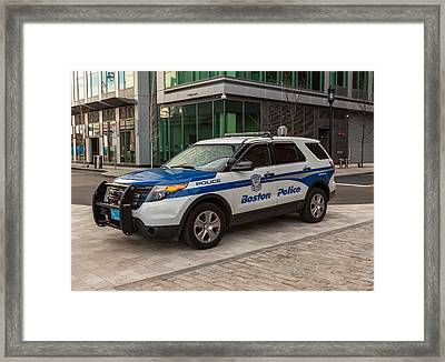 Boston Police Car Framed Print by Brian MacLean