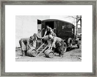Boston Police Paddy Wagon Prohibition Raid C. 1929 Framed Print