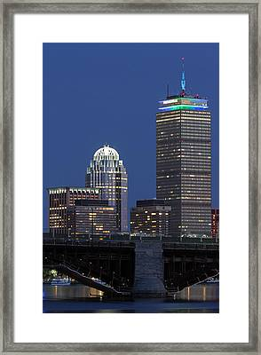 Framed Print featuring the photograph Boston Prudential Center Celebrating 100th Anniversary Of Shaw Market by Juergen Roth