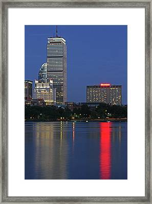 Boston Prudential Tower And Sheraton Hotel Boston Framed Print by Juergen Roth
