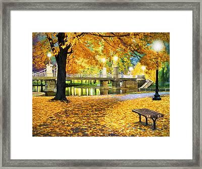 Boston Public Garden Framed Print by James Charles