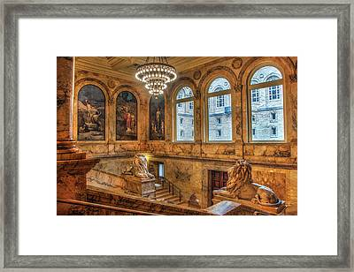 Framed Print featuring the photograph Boston Public Library Architecture by Joann Vitali