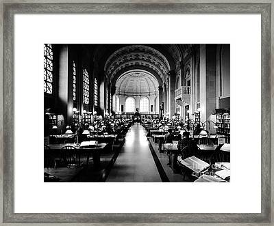 Boston Public Library... Or Hogwarts? Framed Print by JMerrickMedia