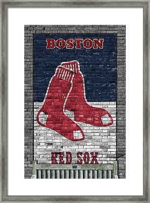 Boston Red Sox Brick Wall Framed Print