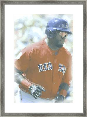 Boston Red Sox David Ortiz 2 Framed Print by Joe Hamilton