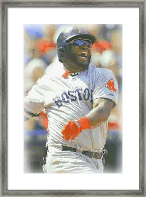 Boston Red Sox David Ortiz 3 Framed Print by Joe Hamilton