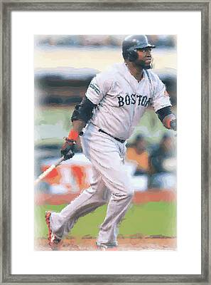 Boston Red Sox David Ortiz Framed Print by Joe Hamilton