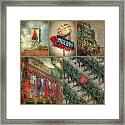 Boston Red Sox Fenway Park Collage Framed Print