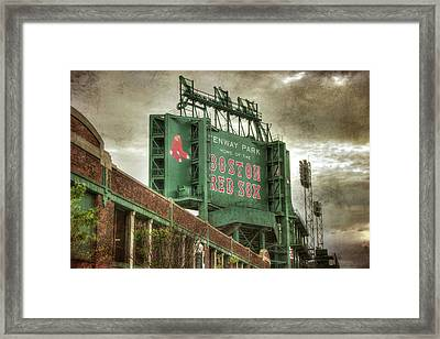 Boston Red Sox Fenway Park Scoreboard Framed Print