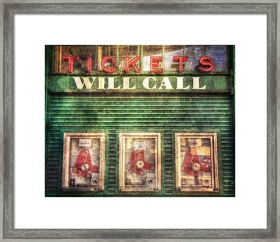 Boston Red Sox Fenway Park Ticket Booth Framed Print by Joann Vitali