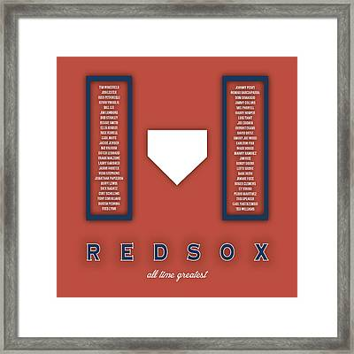 Boston Red Sox Art - Mlb Baseball Wall Print Framed Print