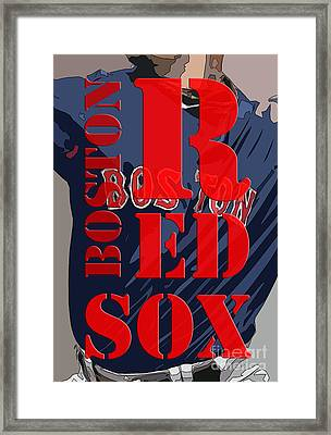 Boston Red Sox  Framed Print by Pablo Franchi