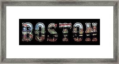 Boston Red Sox Poster Framed Print by Joann Vitali