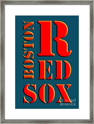 Boston Red Sox Sign Framed Print by Pablo Franchi