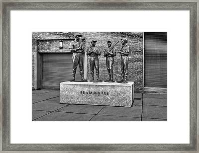 Boston Red Sox Teammates Bw Framed Print by Susan Candelario