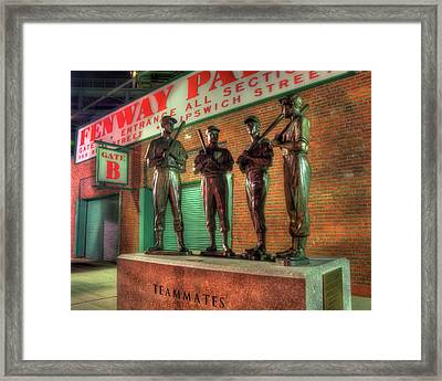 Boston Red Sox Teammates Statue - Fenway Park Framed Print by Joann Vitali