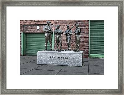 Boston Red Sox Teammates Framed Print by Susan Candelario