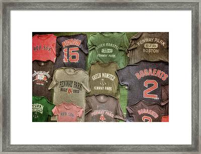 Boston Red Sox Tee Shirts Art Framed Print