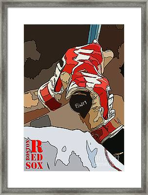 Boston Rex Sox Bat Framed Print by Pablo Franchi