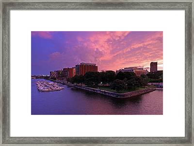 Framed Print featuring the photograph Boston Royal Sonesta by Juergen Roth