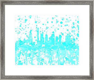 Boston Skyline 1a Framed Print