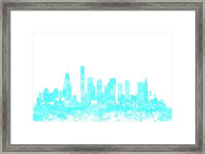 Boston Skyline 1b Framed Print