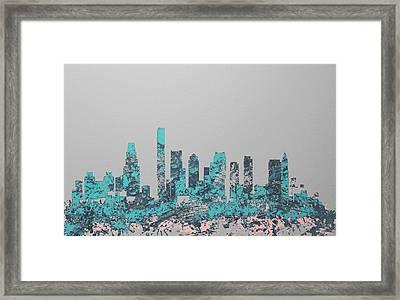 Boston Skyline 1c Framed Print