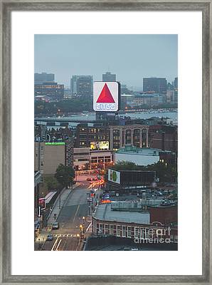 Boston Skyline Aerial Photo With Citgo Sign Framed Print by Paul Velgos