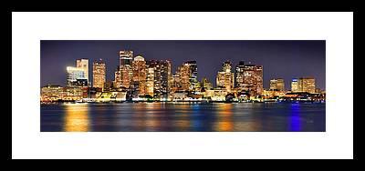 Boston Skyline Framed Prints