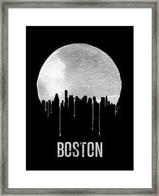 Boston Skyline Black Framed Print