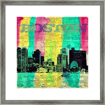 Boston Skyline Framed Print by Brandi Fitzgerald