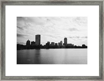 Boston Skyline Framed Print by Utopia Concepts