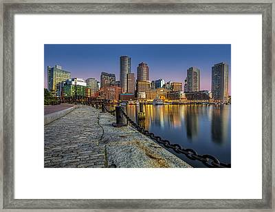 Boston Skyline Dawn Framed Print