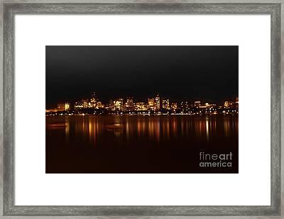 Boston Skyline Framed Print by Frank Garciarubio