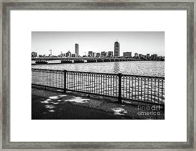 Boston Skyline Harvard Bridge Back Bay Photo Framed Print by Paul Velgos