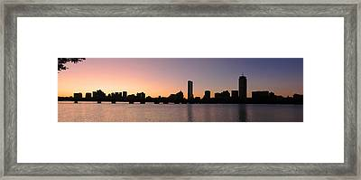 Boston Skyline Framed Print