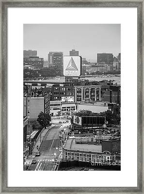 Boston Skyline Photo With The Citgo Sign Framed Print by Paul Velgos