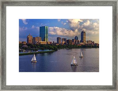 Boston Skyline Framed Print by Rick Berk