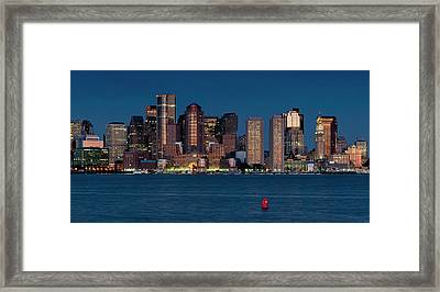 Framed Print featuring the photograph Boston Skyline by Thomas Gaitley