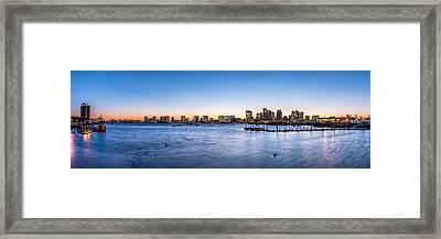 Boston Skyline Framed Print by Tim Sullivan