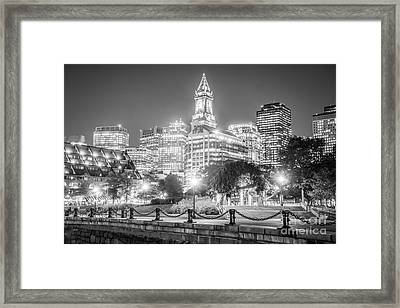 Boston Skyline With Christopher Columbus Park Framed Print by Paul Velgos