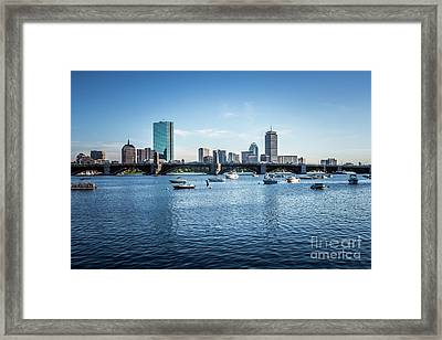 Boston Skyline With The Longfellow Bridge Framed Print by Paul Velgos