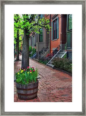 Boston South End Row Houses Framed Print by Joann Vitali