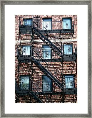 Boston Stairs Framed Print